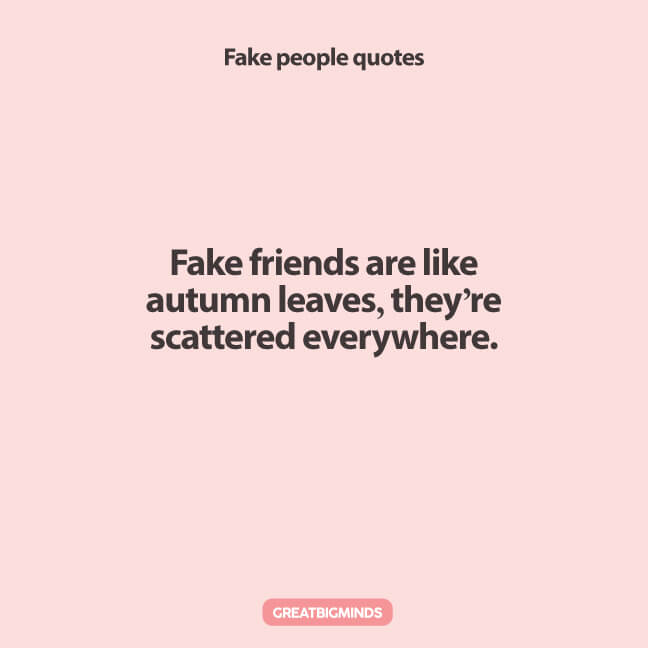 Best 161 Fake People Quotes To Remember In Life - Great Big ...