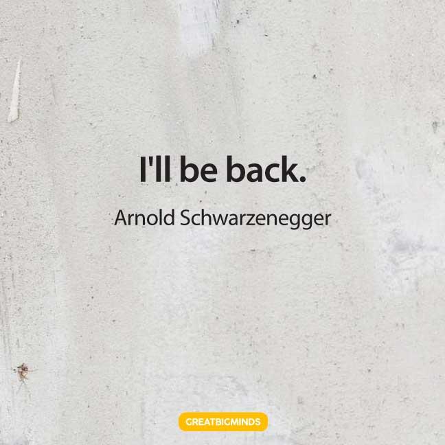 arnold schwarzenegger terminator quotes