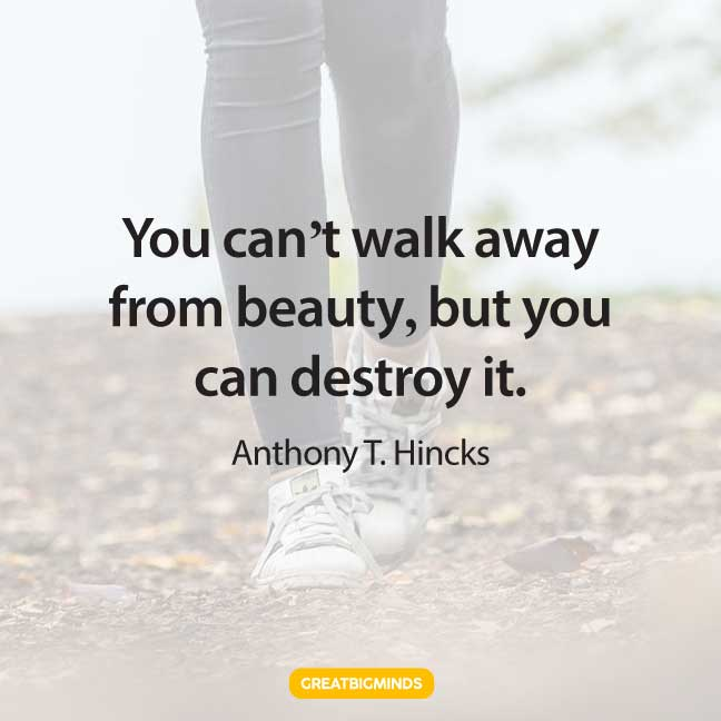 beauty walking away quotes