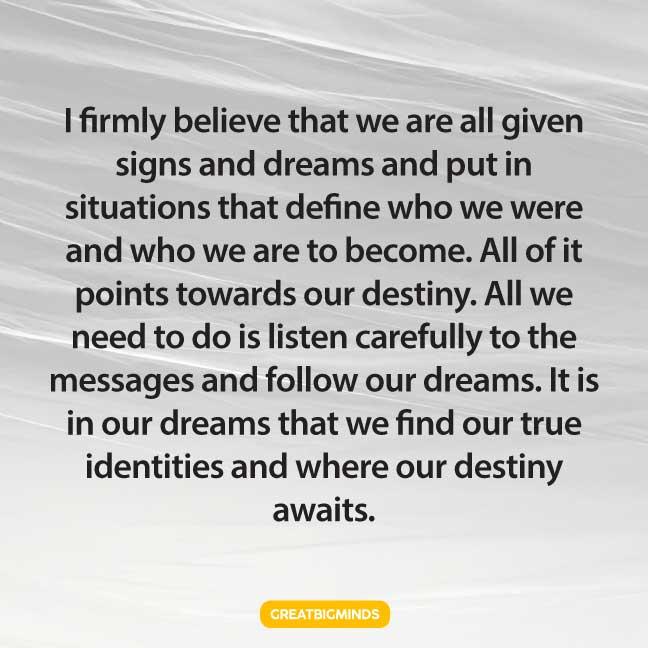 dreams life lesson quotes