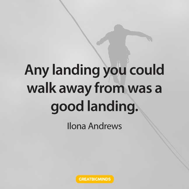 landing walking away quotes