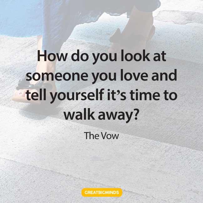 love walking away quotes