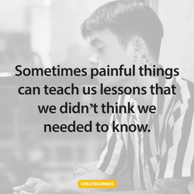 painful life lesson quotes