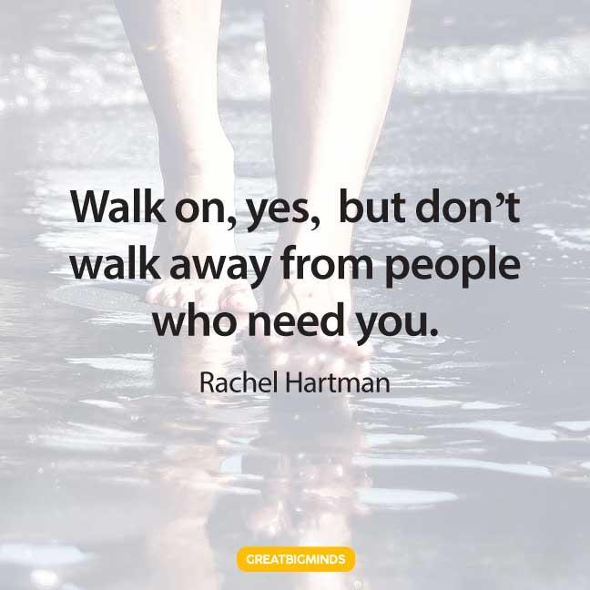 people walking away quotes