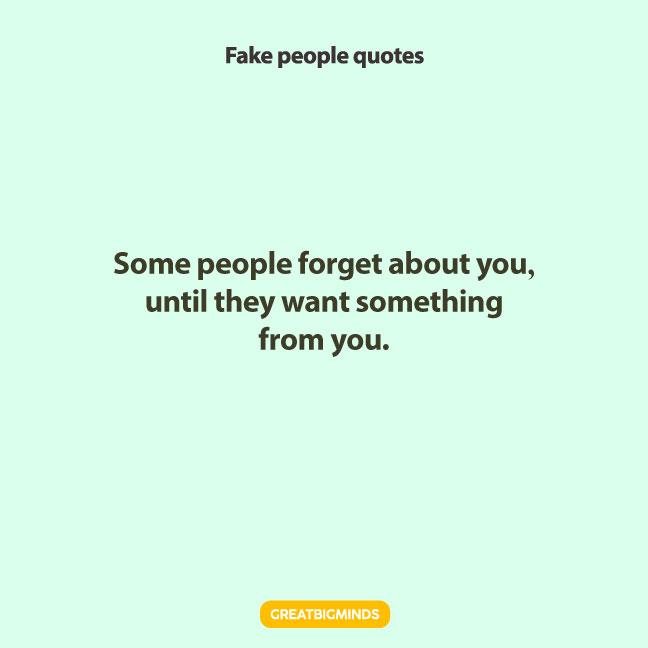 sad fake people quotes