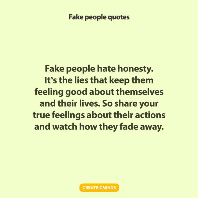 true fake people quotes