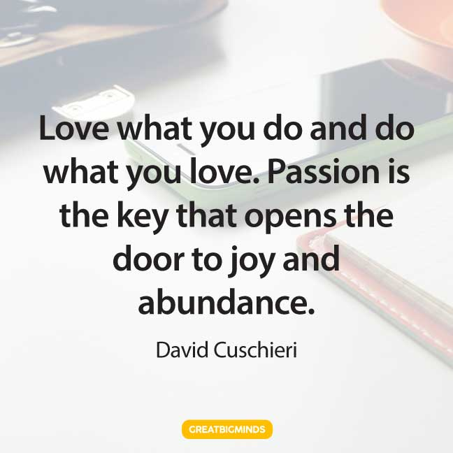 work passion quotes