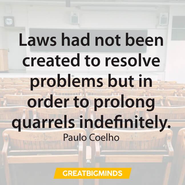 Law Paulo Coelho Quotes
