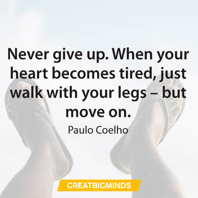 never give up paulo coelho quotes