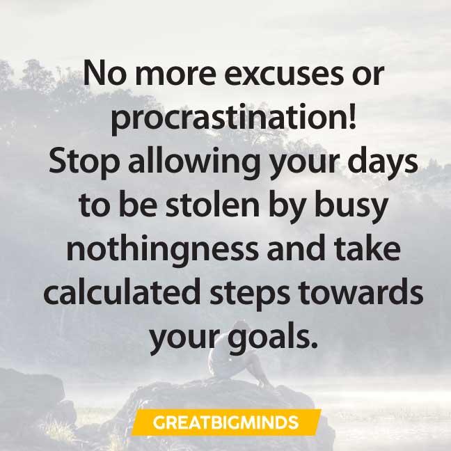 excuse quotes about procrastination