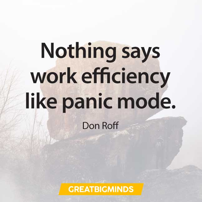 panic quotes about procrastination