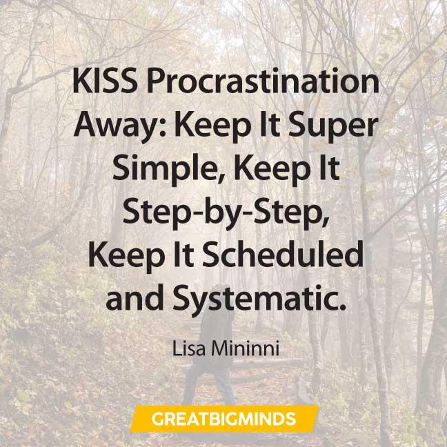 simple quotes about procrastination