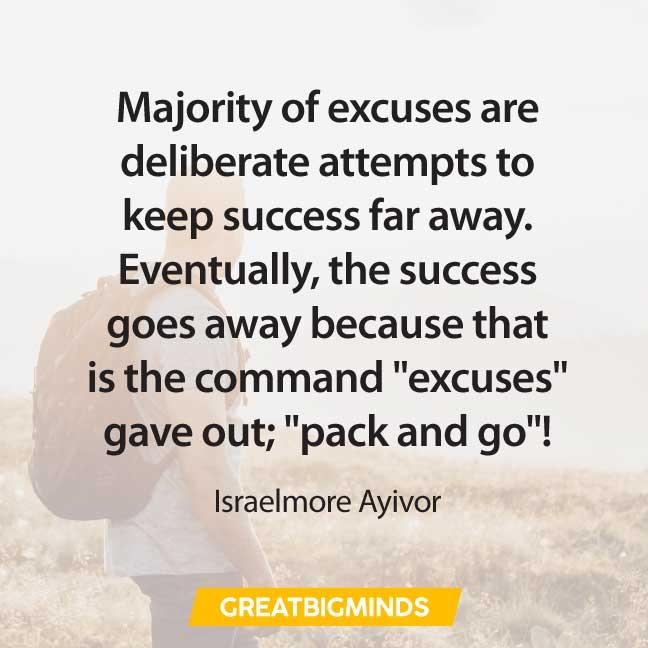 excuses quotes about procrastination