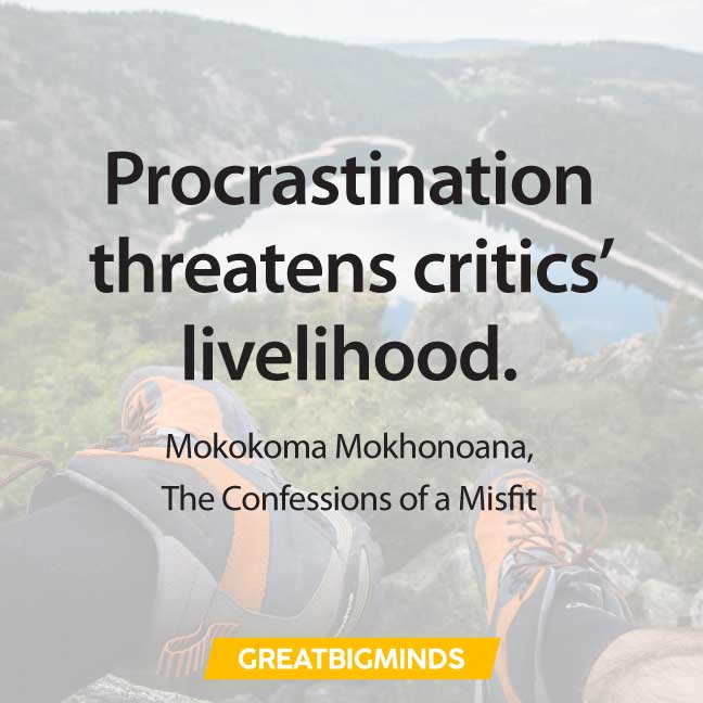 life quotes about procrastination
