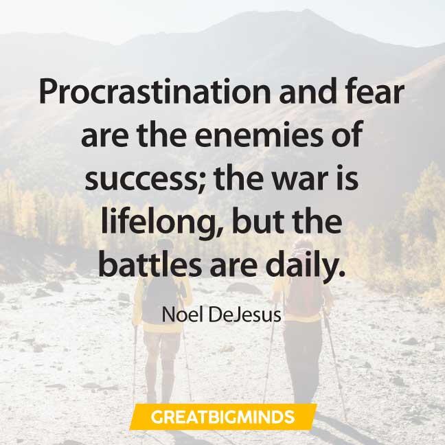 success quotes about procrastination