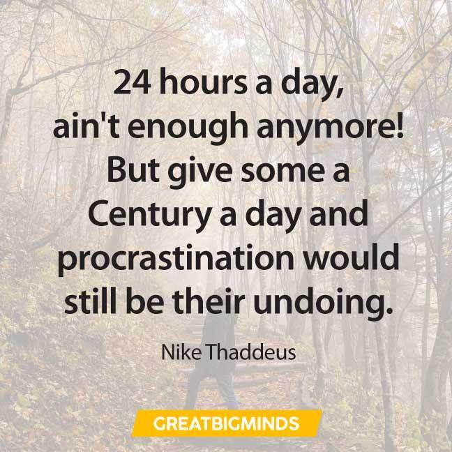 goal quotes about procrastination