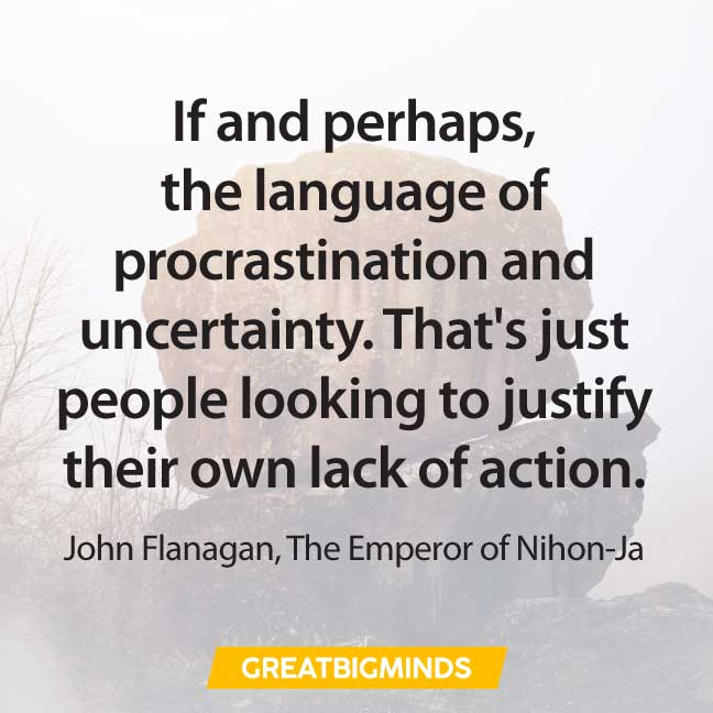 famous quotes about procrastination