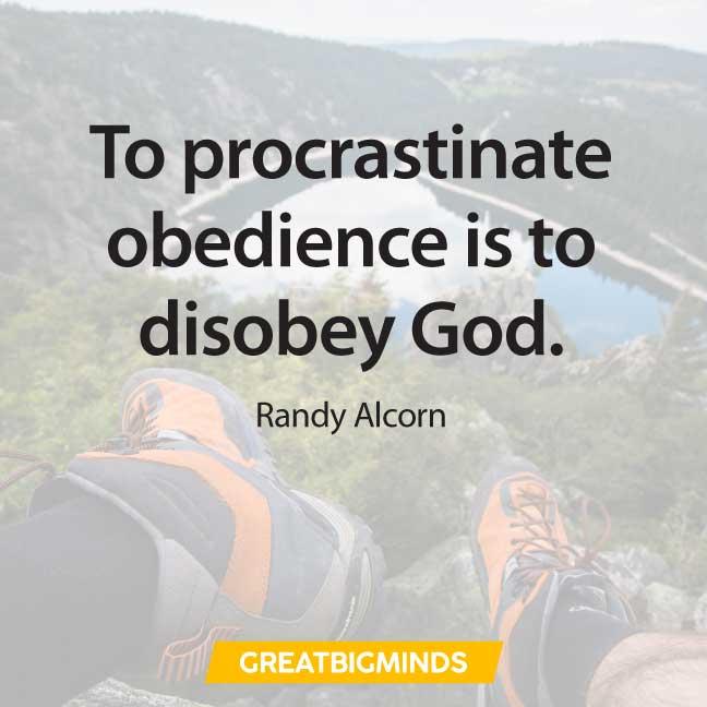 quotes about procrastination god