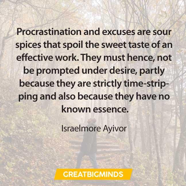images famous quotes about procrastination