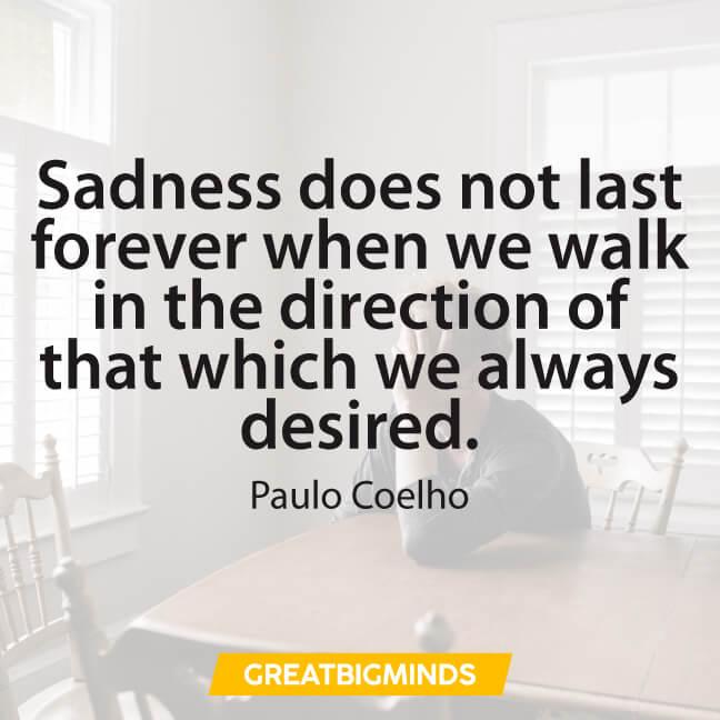 sadness paulo coelho quotes