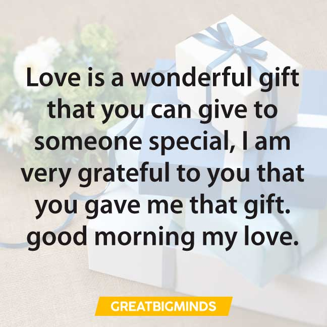 gift good morning love quotes