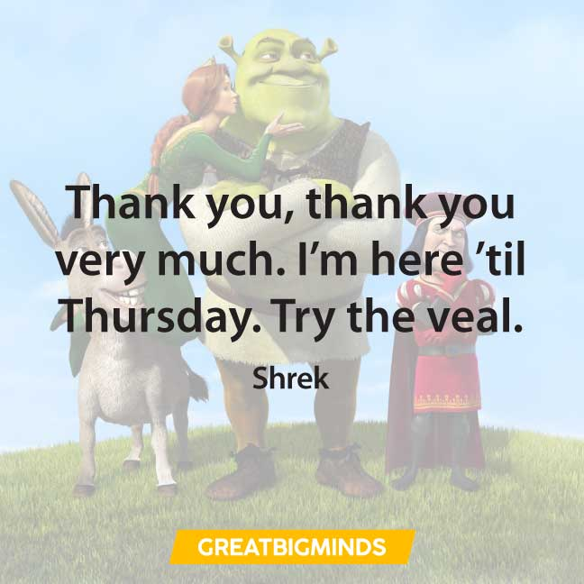 thank you shrek quotes
