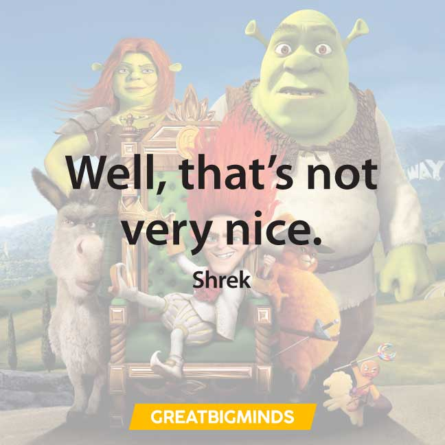 nice shrek quotes